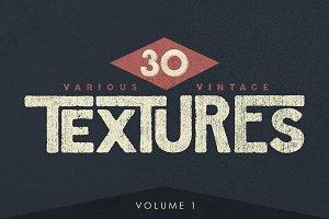 30 Various Vintage Textures + BONUS