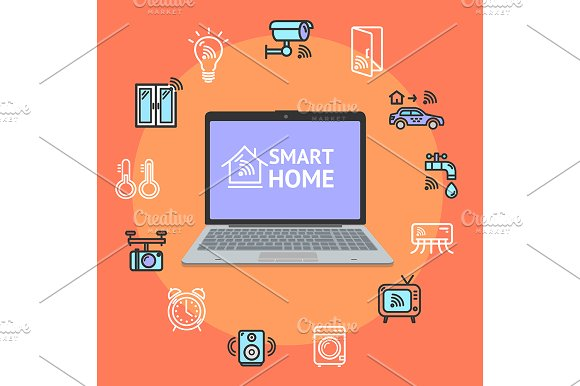 Smart Home Concept With 3D Pc