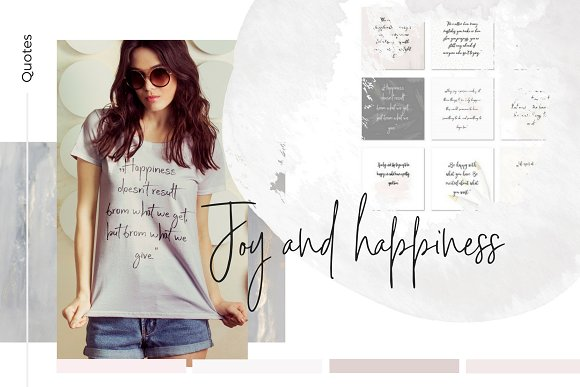 Joy and Happiness quotes in Instagram Templates
