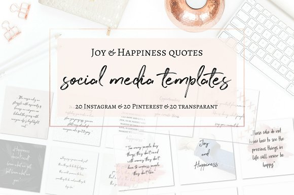 Joy and Happiness quotes in Instagram Templates - product preview 1