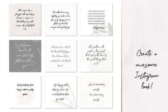 Joy and Happiness quotes in Instagram Templates - product preview 2