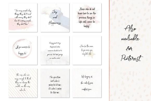 Joy and Happiness quotes in Instagram Templates - product preview 3