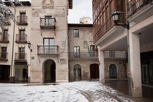 Winter scene of a snowed village