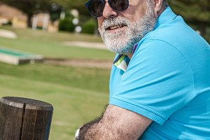 Attractive old man with beard