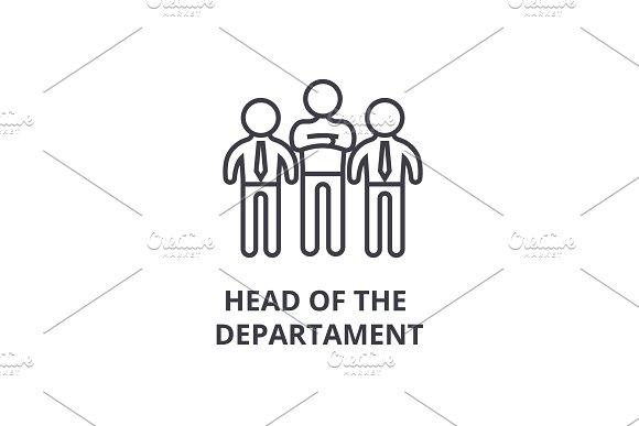head of the departament thin line icon, sign, symbol, illustation, linear concept, vector