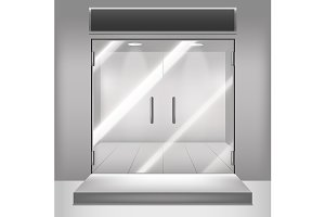 3d Glass Transparent Doors