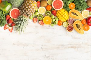 Fruits and vegetables rich in vitamin C