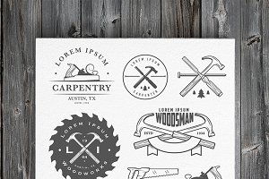 Vintage carpentry design elements