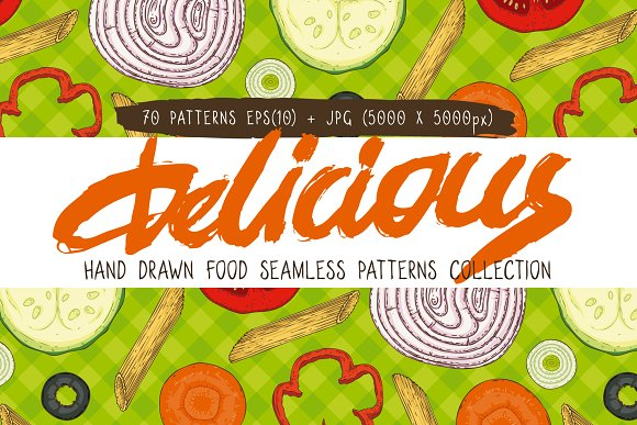 Food Seamless Patterns Collection
