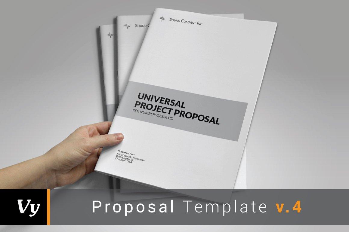 general project proposal brochure templates creative market. Black Bedroom Furniture Sets. Home Design Ideas