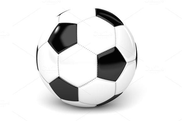 Soccer Ball On White 3D Render