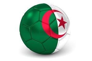 Soccer Ball With Algerian Flag 3D Render