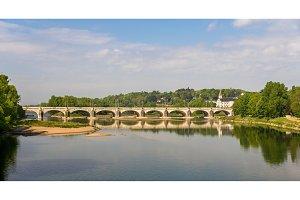 Pont Wilson in Tours - France, Region Centre
