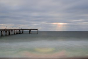 Sun Rays on Pacifica Municipal Pier