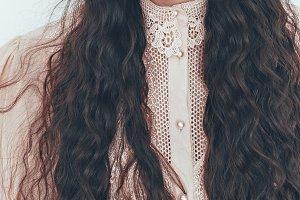 Long hair. Vintage style
