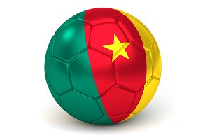 Soccer Ball With Cameroonian Flag 3D Render