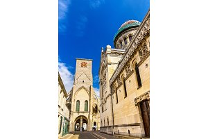 Basilica of St. Martin and Charlemagne tower in Tours - France