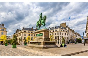 Monument of Jeanne d'Arc in Orleans, France