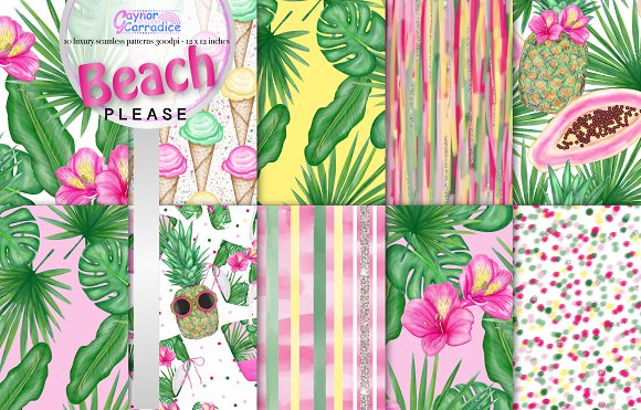 Beach Please Pattern Collection