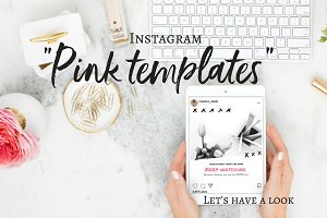 "Instagram templates ""Pink Passion"""