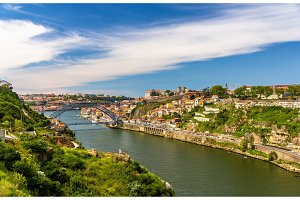 View of Porto with the Dom Luis Bridge - Portugal