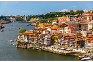 View of Porto over the river Douro - Portugal