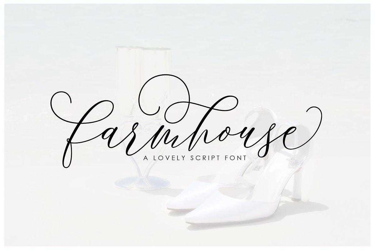 Farmhouse Script ~ Script Fonts ~ Creative Market