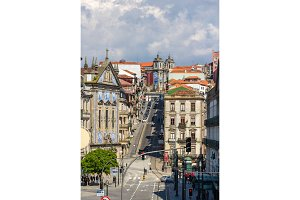 View of Rua 31 de Janeiro in Porto, Portugal
