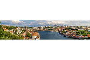 Panorama of Porto and the Douro river - Portugal