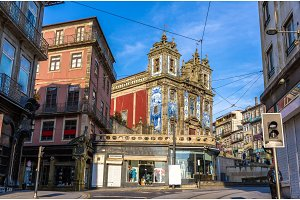 View of the Church of Saint Ildefonso in Porto, Portugal