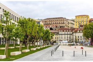 Buildings in the city center of Lisbon - Portugal