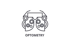 optometry thin line icon, sign, symbol, illustation, linear concept, vector