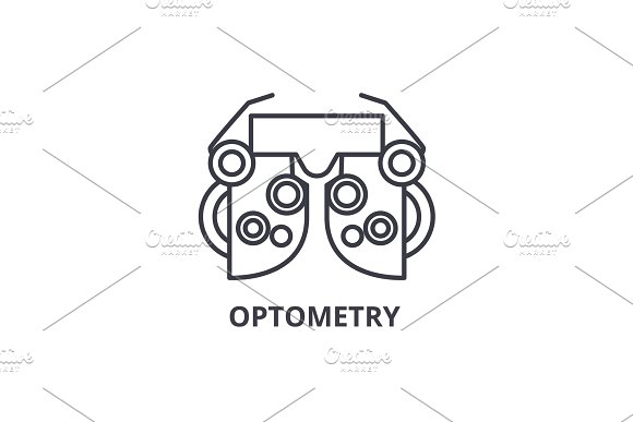 Optometry Thin Line Icon Sign Symbol Illustation Linear Concept Vector