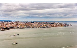Panorama of Lisbon from Almada - Portugal
