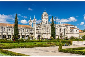 View of the Jeronimos Church in Lisbon - Portugal