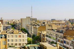 Cityscape of Tehran city,  Iran