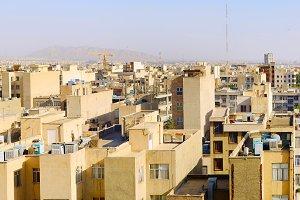 Skyline of Tehran, city architecture