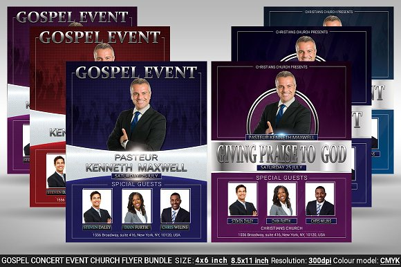 Gospel Concert Event Church Bundle