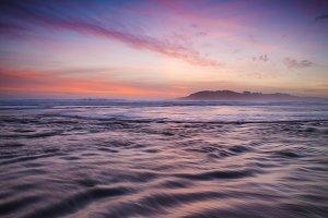 Beautiful sunset in the beach.
