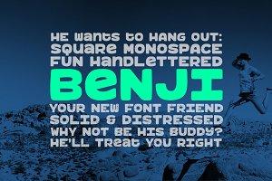 Benji: a bold, fun monospace font!