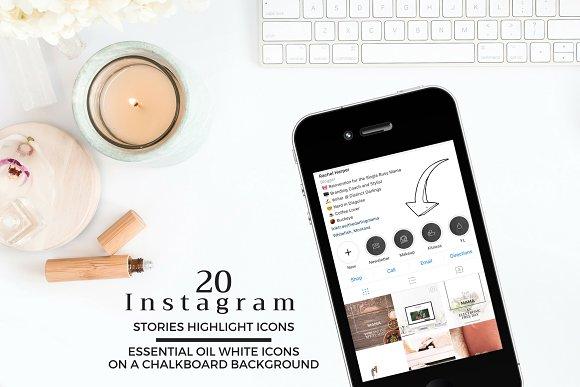 ESSENTIAL OIL Theme Instagram Icons