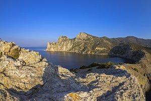 Coastal cliffs in the morning