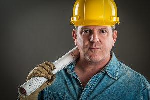 Contractor in Hard Hat