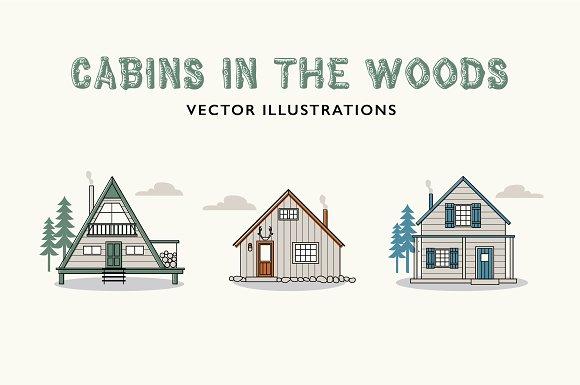 Cabin Vector Illustrations