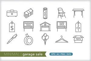 Minimal garage sale icons