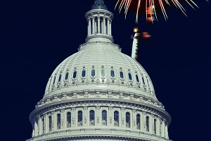 Washington DC. 4th July, Fireworks
