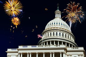 Independence Day fireworks Capitol