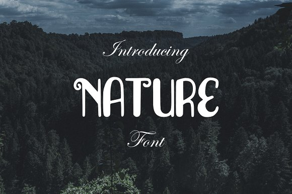Nature Font in Display Fonts