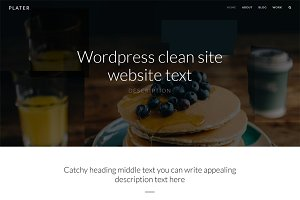 Plater - Resposnive Wordpress Theme