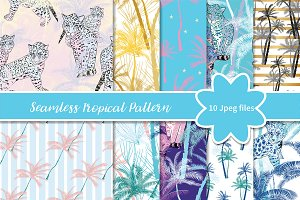 №270 Seamless tropical pattern